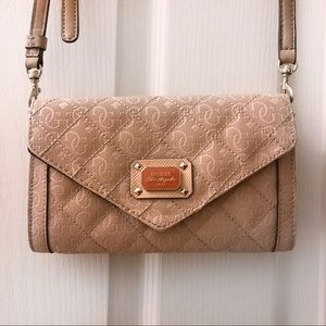 GUESS Blush Pink Wallet Crossbody Shoulder Bag
